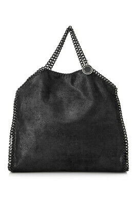 568da916ebfb Pre-Owned Stella McCartney Falabella Chamois Fold Over Tote (Black  Faux  Leathe)
