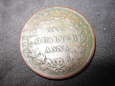 1858 India One Quarter Anna RARE COIN--East India Company