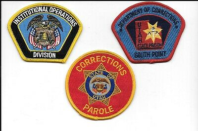 Police Sheriff Security CORRECTIONS patch obsolete NOS lot 3 prison UT