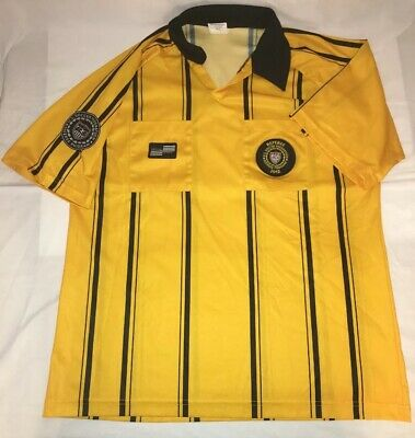 Official Sports US Soccer Referee Jersey Uniform Yellow Men s size Large c9d1dbf66