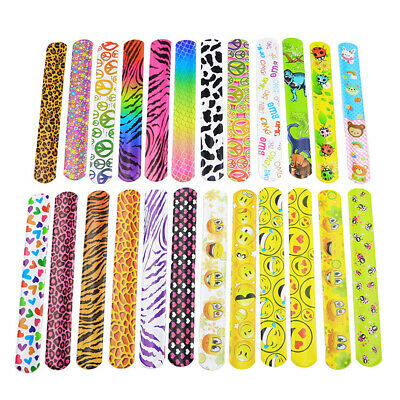 30x Mixed Wrist Snap Slap Bands Kids Party Favor Novelty Toys Children's Day