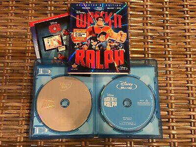 Wreck-It Ralph (Blu-ray/DVD, 2013, 2-Disc Set Collectors Edition) with Slipcover