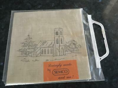 Semco 'church'  Embroidery/tapestry - Linen  - Unworked - As New