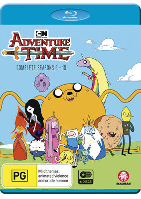 ADVENTURE TIME Season 6 7 8 9 10 (Region Free) Blu-ray The Complete Series 6-10