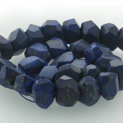 "15"" Natural Gemstone Faceted Nugget Lapis Lazuli Freeform Spacer Beads 14-20mm"
