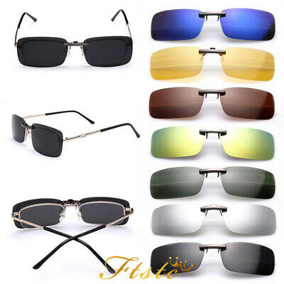 Clip on Sunglasses UV400 Night Vision Yellow Black Polarized Glasses AUS