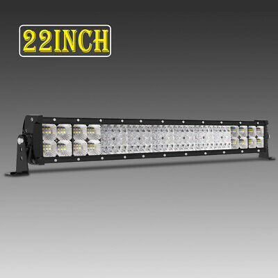 "Quad Row 22inch Led Work Light Bar 3072W Driving Offroad For Tractor Jeep 23""24"