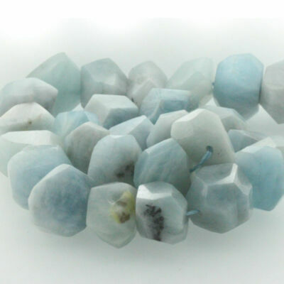 "15"" Natural Gemstone Faceted Nugget Aquamarine Freeform Spacer Beads 14-20mm"