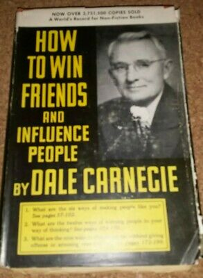 Dale Carnegie How to Win Friends & Influence People HC DJ RARE Nickname Sheets