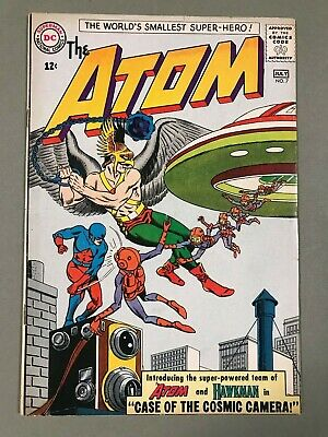 1963 DC THE ATOM #7 * Classic HAWKMAN Cover! VERY Nice!