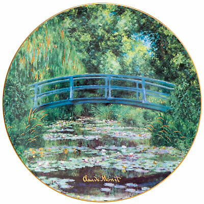 NEW Goebel Claude Monet's 'Japanese Garden' Plate 36cm