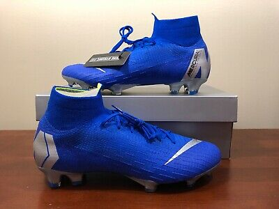 83bee784b30a Nike Mercurial Superfly 6 Elite FG 360 AH7365-400 Soccer Cleat Size 9.5 Blue