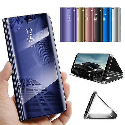 For Samsung Galaxy S10 Plus S10e S10 Smart Mirror Leather Stand Clear Case Cover