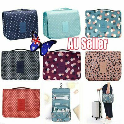 Travel Cosmetic Storage MakeUp Bag Folding Hanging Organizer Pouch Toiletry NW