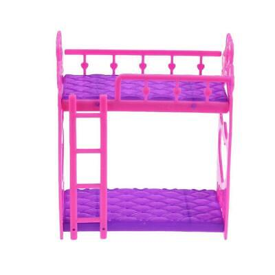 Beautiful Plastic Bed Bedroom Furniture For Barbie Dolls Dollhouse AD