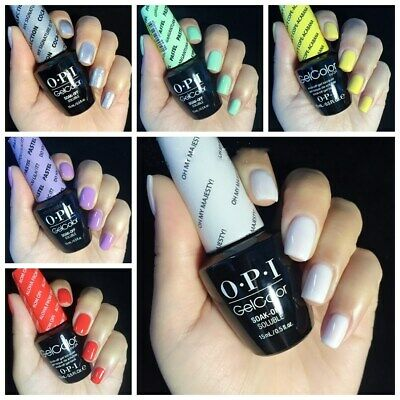 OPI GelColor Lacquer UV/LED Gel Soak-Off Nail Polish Collection Series 123 Color