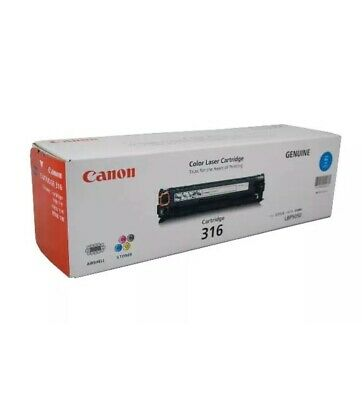 New Genuine Canon 316 C Cartridge 1500 Pages Yield Cyan