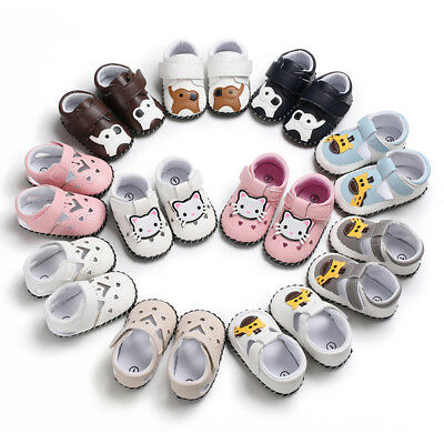 AU Infant Boys Girls Baby Soft Sole Leather Shoes Moccasin Crib Booties 0-18M