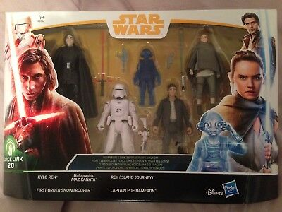 Star Wars The Last Jedi 5 Pack  Force Link New Includes Rey Maz Kylo Poe