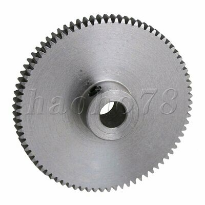 Sliver 0.5M 80T Gear 6mm Shaft Motor Spur Pinion Gear for Low Strength Project.
