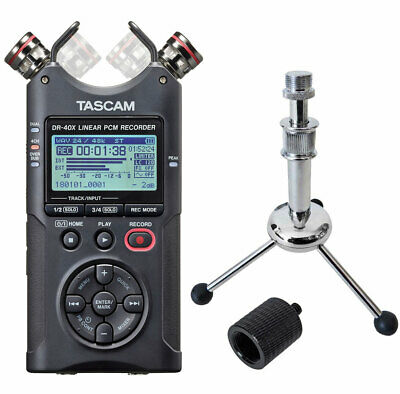 Tascam DR-40X Audio-Recorder + keepdrum Tripod Stativ + Stativadapter