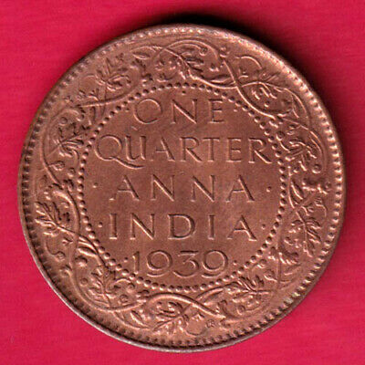 British India - 1939 - One Quarter Anna - Kg Vi - Rare Coin #re12
