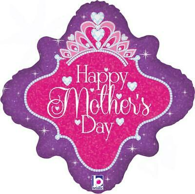 """Happy Mothers Day Queen 18"""" Holographic Foil Balloon"""