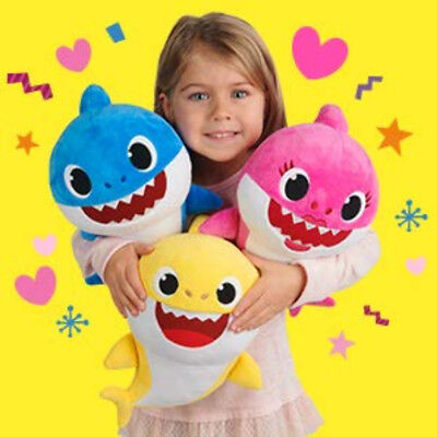 Baby Cartoon Shark Teddy Plush Toys Soft Singing Dolls Gift for Kids Boys Girls