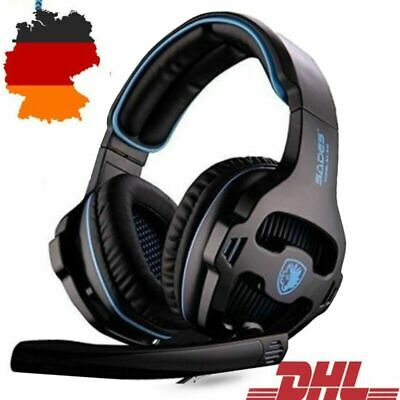 PS4 Gaming Headset Kopfhörer mit Mikrofon 3.5mm On Ear Surround Sound Earphone