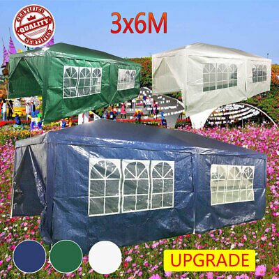 Upgrade Waterproof 6x3M Gazebo Garden Marquee Awning Party Tent Canopy Tent