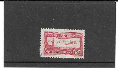 France 1930.avion Flying Over Marseille.timbre Gum Seal Round. Pa.n°5