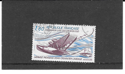 """France 1982.Hydravion Late 300"""" Cross Du Sud"""".Timbre Gum Seal Rond.pa.n°56"""