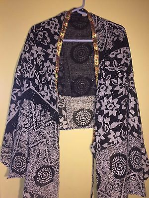 Women's Lakhay's Collection 100% Cotton Kimono Robe Cover up Swimsuit Beach