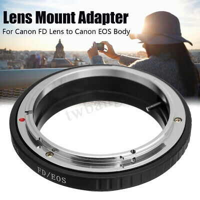 For Canon FD Lens To EOS EF Camera FD-EOS Mount Adapter Ring No Glass