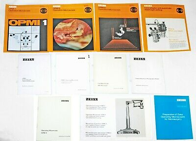 Zeiss West OPMI Operation Microscopes Manuals & Literature Mikroskop Anleitungen