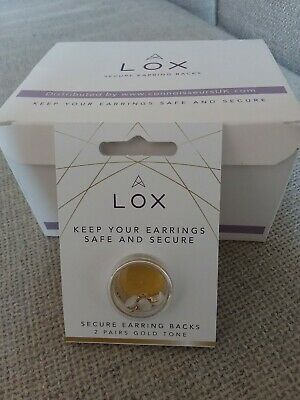 Lox Secure Earring Backs by Aloxia Two Pairs Gold Tone