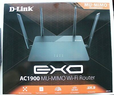 NEW D-Link DIR-878 Dual Band EXO AC1900 MU-MIMO Wi-Fi Router Factory Sealed