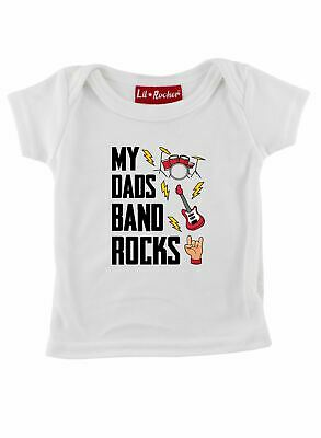 My Dads Band Rocks Funny Babies and Childrens Slogan T Shirt