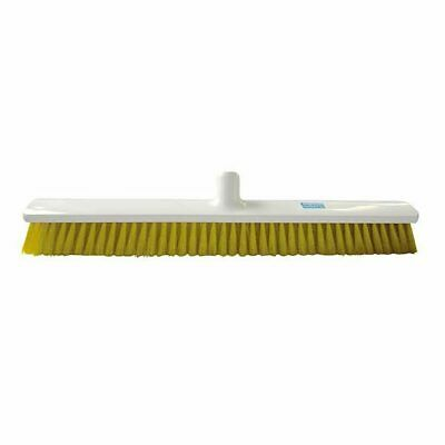 60cm Hygiene Broom Combi Soft / Medium extra large Food Safe autoclavable Yellow