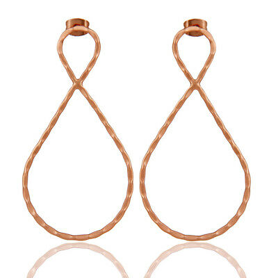 Handmade 18k Rose Gold Plated Traditional Brass Earrings Unique Jewelry