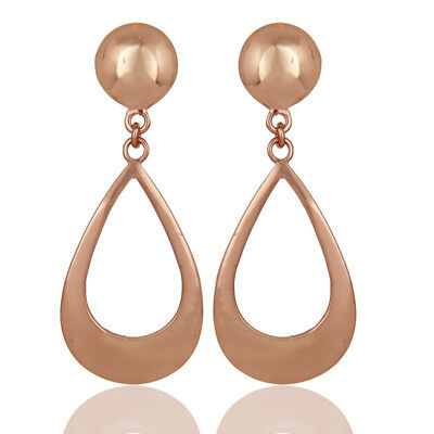 18k Rose Gold Plated Handmade Traditional Fashion Design Brass Earrings Jewelry
