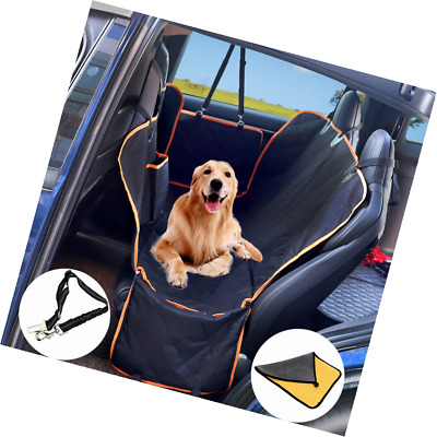 Dog Car Protector >> Icreopro Pet Dog Car Seat Cover Protector With Mesh Window Extended Rear Bench