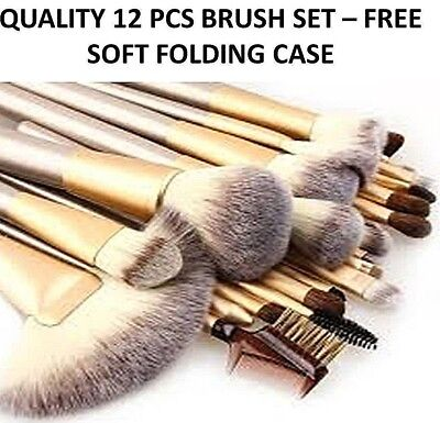Professional Salon Make Up Brush Set Foundation  Kabuki Makeup Brushes CHAMPAGNE