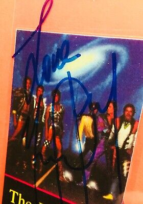 """Michael Jackson Really Hand Signed Press Pass """"The Jacksons Victory Tour"""" 1984"""