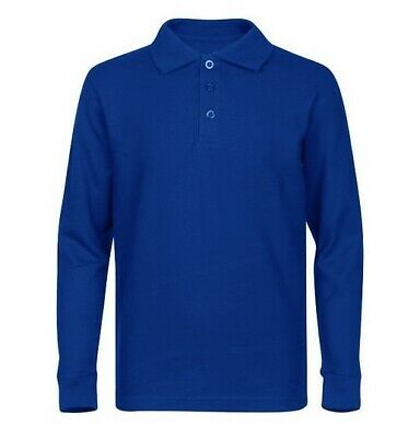 Protal Fire Retardant AntiStatic Long Sleeved Polo Shirt Navy / Royal Blue FR200