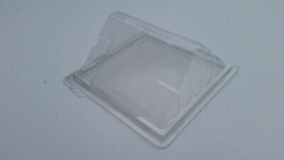 300 Quarter Sandwich Wedges - Deli Hinged Plastic Catering Cafe -Clear