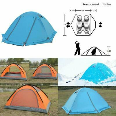 Flytop 3-4 Season 1-2-Person Double Layer Backpacking Tent Aluminum Rod Windproo