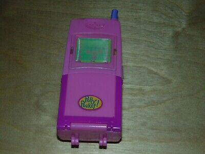 Polly Pocket MOBILE PHONE 1998 Hot Stuff Compact Bluebird Vintage