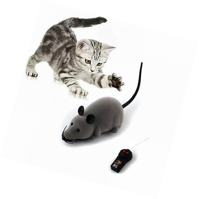 Rat Toy, Scoolr RC Funny Wireless Electronic Remote Control Mouse Pet For Cats D