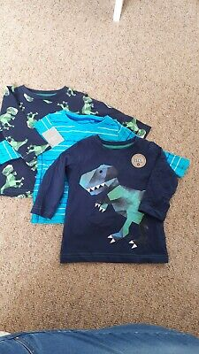 Next Baby Boys,  Set Of 3 Long Sleeve Tops, Dinos, 6-9 Months, BNWT